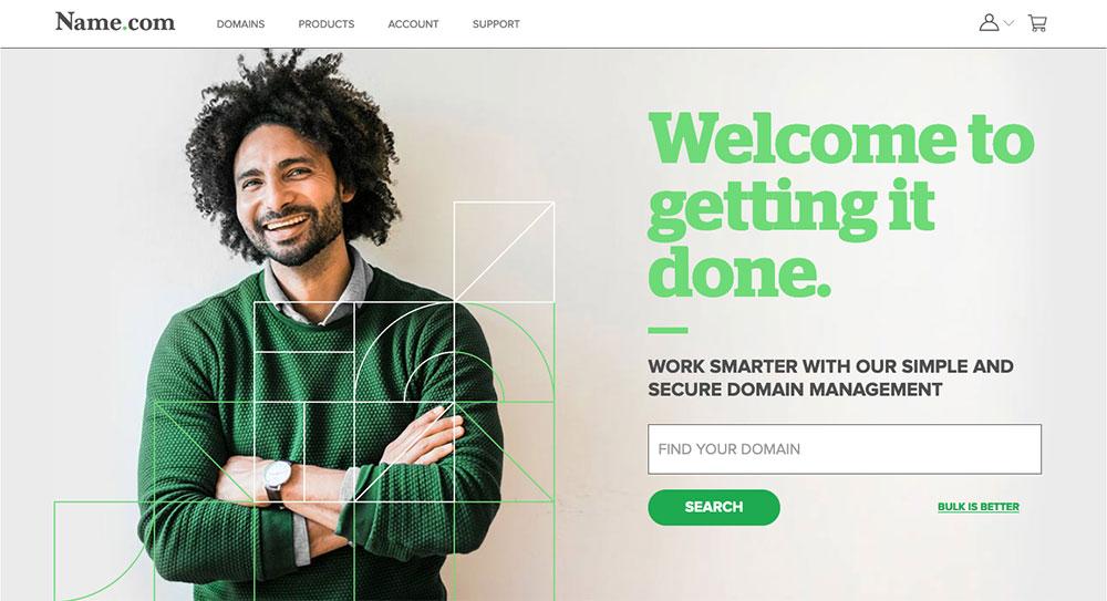 Name.com home page